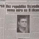 Kako su LSV i Nenad Čanak pre dve decenije tražili Republiku Vojvodinu? 6