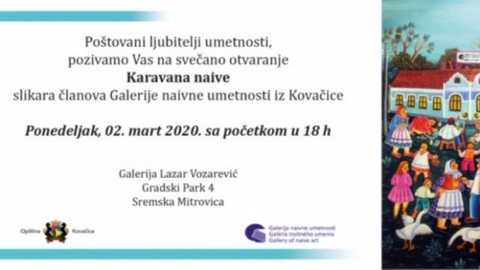 ''Karavan naive'' od 2. do 8. marta u Sremskoj Mitrovici 2