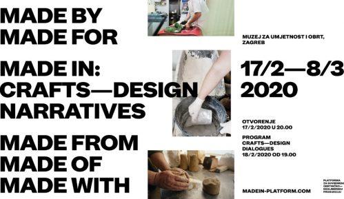 Izložba MADE IN: Crafts - Design Narratives na Mikser festivalu 15