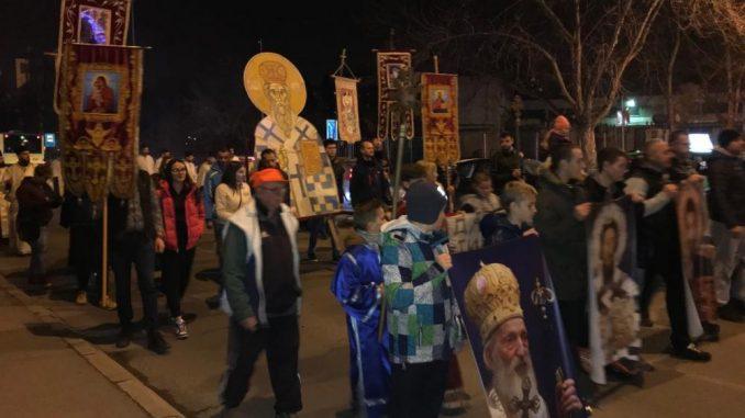 U Nišu održan drugi moleban i šetnja u znak podrške protestima u Crnoj Gori 2