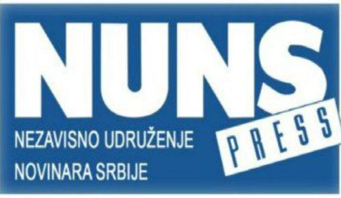 NUNS osudio ometanje u radu i uvrede upućene novinarki TV Prva 10