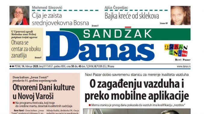 Sandžak Danas - 14. februar 2020. 1