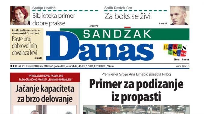 Sandžak Danas - 21. februar 2020. 1