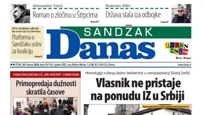 Sandžak Danas - 28. februar 2020. 1
