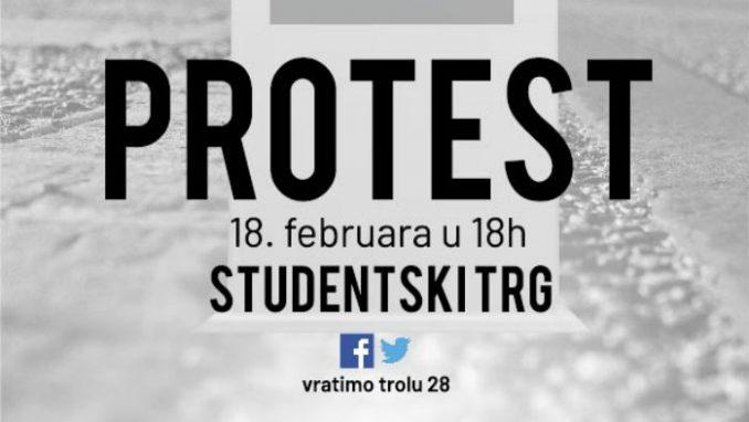 Otkrivanje spomenika trolejbusu 28 na Studentskom Trgu 18. februara 5