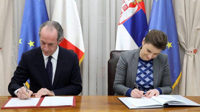 Potpisan sporazum o saradnji Srbije i italijanske regije Veneto 1