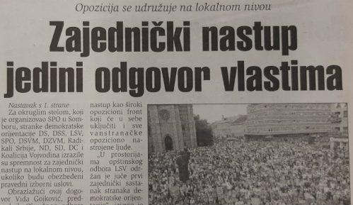 Udruživanje opozicije pred izbore 2000. i 2020. 15