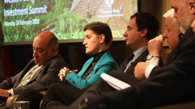 Brnabić na Investicionom samitu: Iskoristiti potencijal Zapadnog Balkana 4