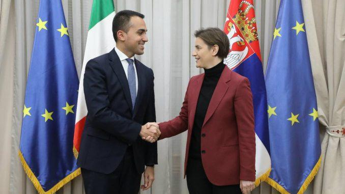 Di Majo i Brnabić: Prirodno strateško partnerstvo Italije i Srbije 3
