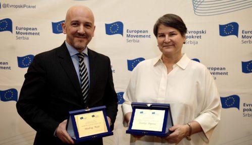 """Priznanja """"Doprinos godine Evropi"""" uručena rektorki  Popović i sudiji Majiću 9"""