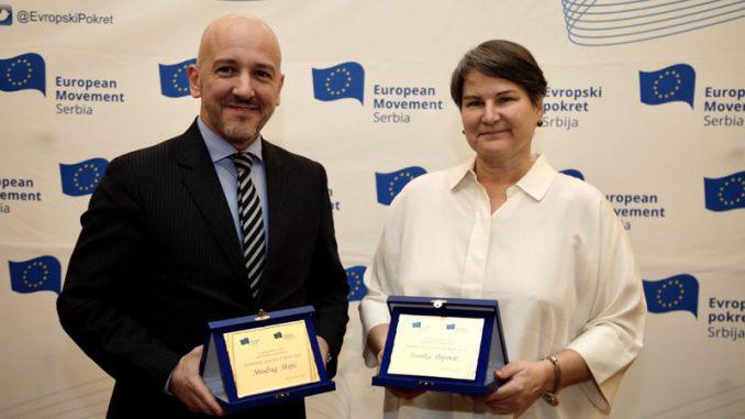 """Priznanja """"Doprinos godine Evropi"""" uručena rektorki  Popović i sudiji Majiću 4"""