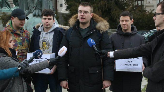 Studenti Pravnog fakulteta u Beogradu predali potpise za rezoluciju o ugroženosti Srba u Crnoj Gori 2