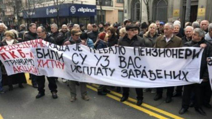 Radnici PKB blokirali saobraćaj u Beogradu, traže nadoknadu za akcije u Predsedništvu Srbije 2