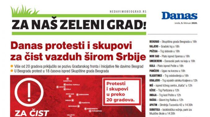Specijalni dodatak Danasa povodom protesta za čist vazduh širom Srbije (PDF) 1