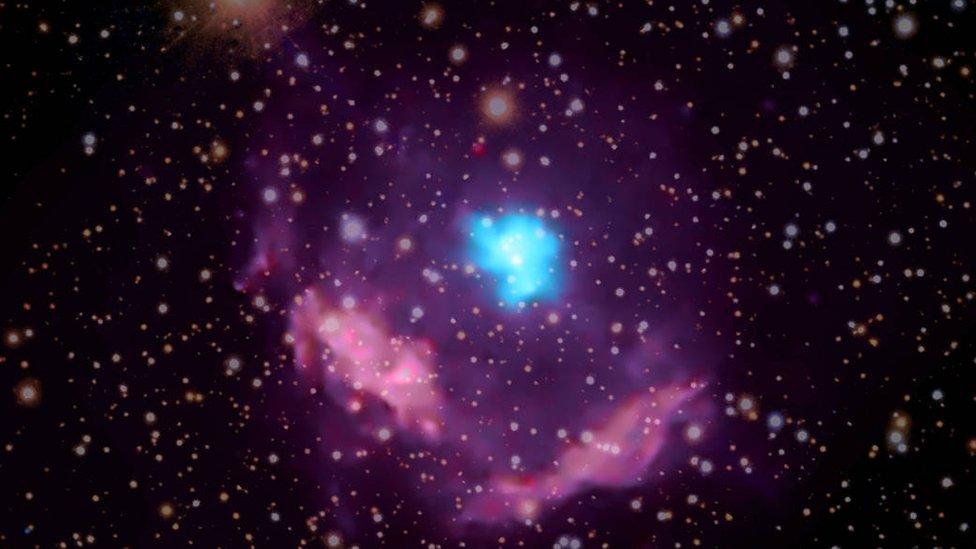 Image of a pulsar