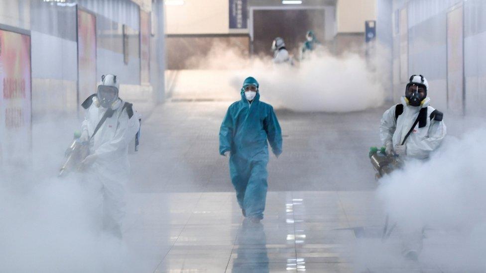 Dezinfekcija na železničkoj stanici u Kini