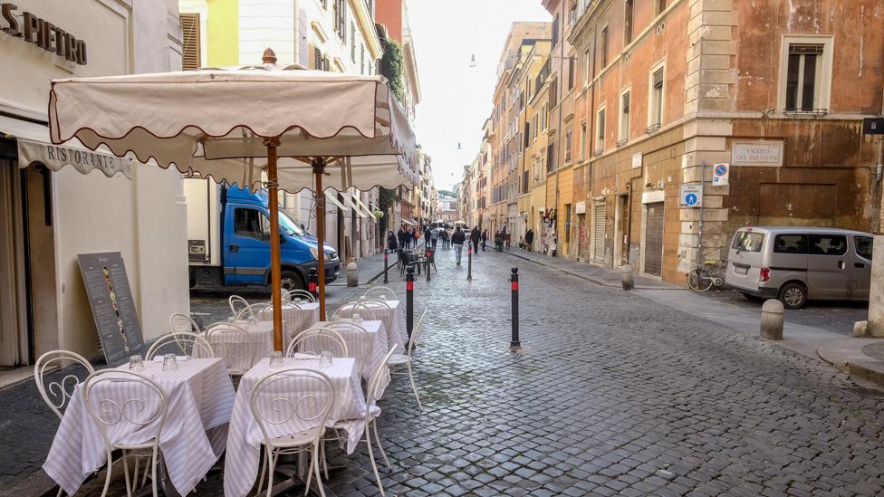 Borgo Pio pedestrian area, Rome, 5 Mar 20