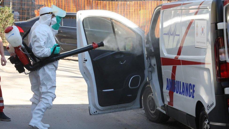 Dezinfekcija ambulatnih kola u Beogradu