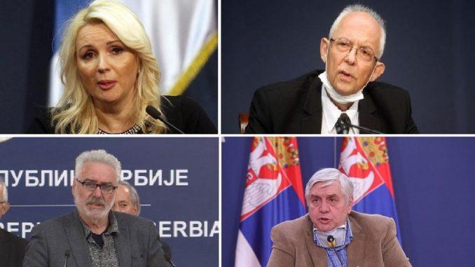 Korona virus i Srbija: Ko su Darija Kisić Tepavčević, Predrag Kon, Goran Stevanović i Branimir Nestorović 2