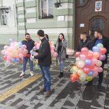 """Mladi SSP izveli akciju """"150 balona za 150 ljudi koji napuste Zrenjanin i Srbiju"""" 12"""