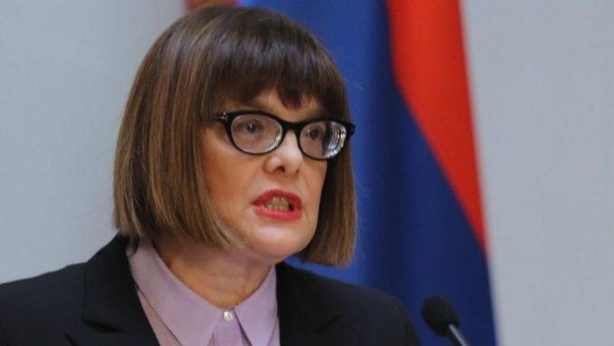 Maja Gojković tvrdi da je vanredno stanje uvedeno u skladu sa Ustavom 1