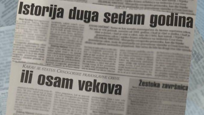Dva viđenja sticanja pravnog statusa Crnogorske crkve pre 20 godina 2
