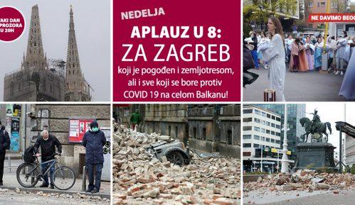 Aplauz u 8: Solidarnost sa stanovnicima Zagreba pogođenim zemljotresom 9