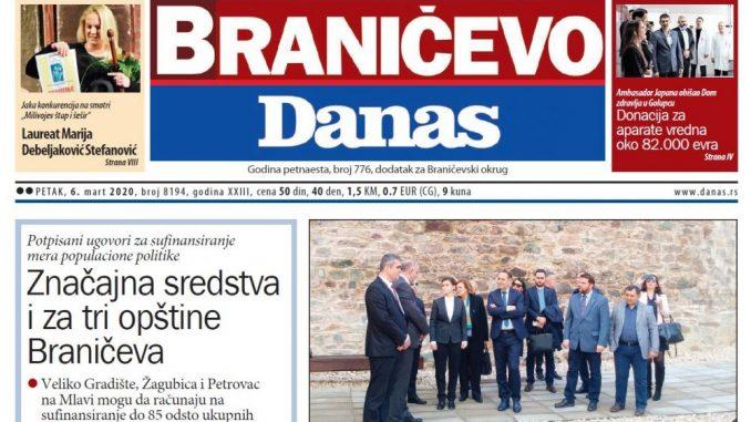 Braničevo Danas - 6. mart 2020. 1