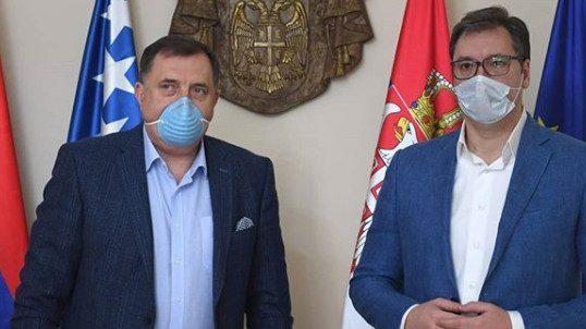 Sastali se Vučić i Dodik, slikali se sa maskama protiv korona virusa 1