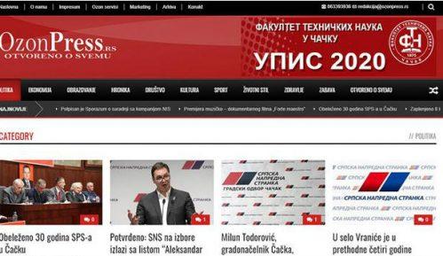 Narodna stranka optužila SNS za krađu identiteta portala OzonPress iz Čačka 14
