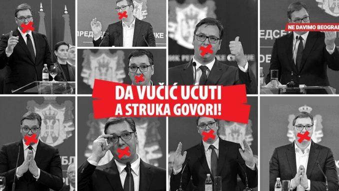 """Ne davimo Beograd: Raste broj potpisa peticije """"Da Vučić ućuti, a struka govori"""" 2"""