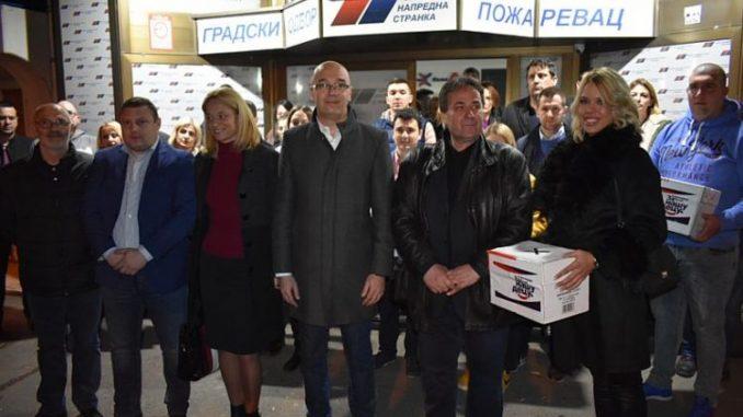 Požarevački naprednjaci prvi predali izbornu listu 3