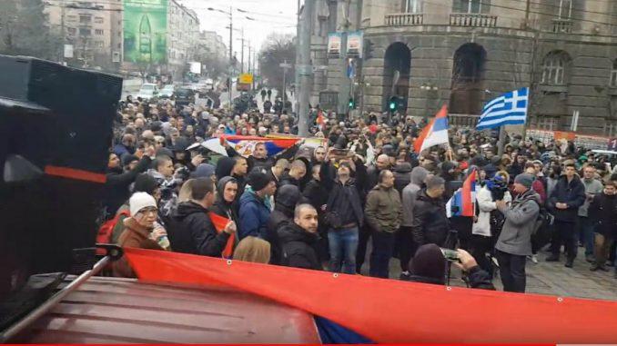 Protest zbog migranata i izbeglica ispred Vlade Srbije (VIDEO) 1