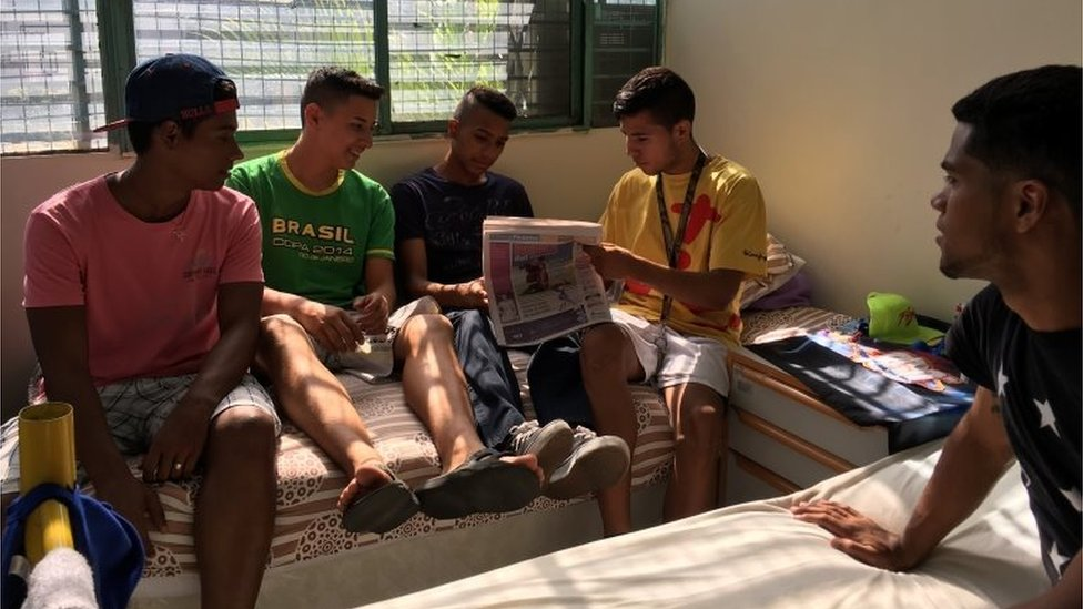 Youths in a Don Bosco foster home
