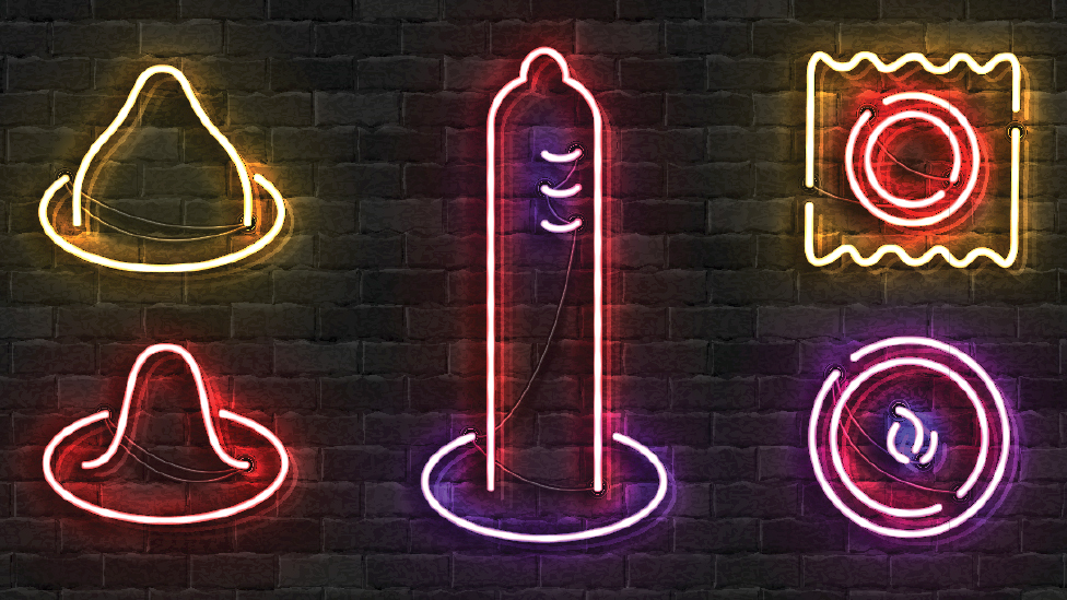 Neon lights of contraceptives