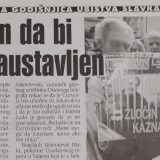 Kako je pre 20 godina obeležena prva godišnjica ubistva Slavka Ćuruvije? 1