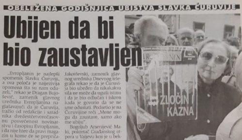 Kako je pre 20 godina obeležena prva godišnjica ubistva Slavka Ćuruvije? 7