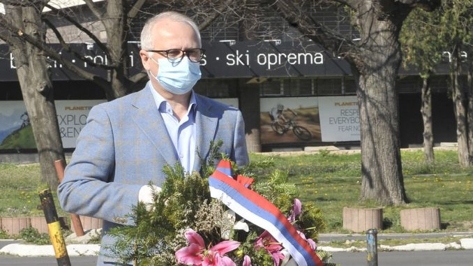 Vulin i Vesić položili vence na Spomenik pilotima braniocima Beograda 5