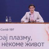 Brnabić saopštila da su u Srbiji izlečene 534 osobe i pozvala građane da daju krvnu plazmu 9