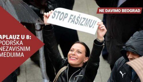 Ne davimo Beograd: Aplauz u 8 kao podrška nezavisnim i slobodnim medijima 3
