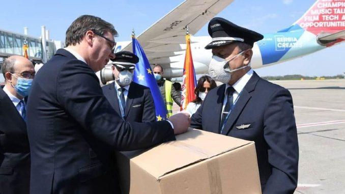 Italijanski privrednici zahvalili Vučiću na donaciji koju je Srbija uputila Italiji 1