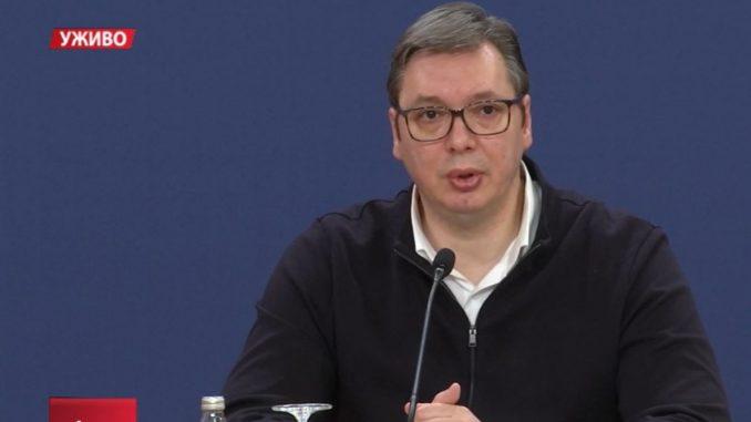 Vučić: Zabrana kretanja od subote u 13 do ponedeljka u 5 časova 2