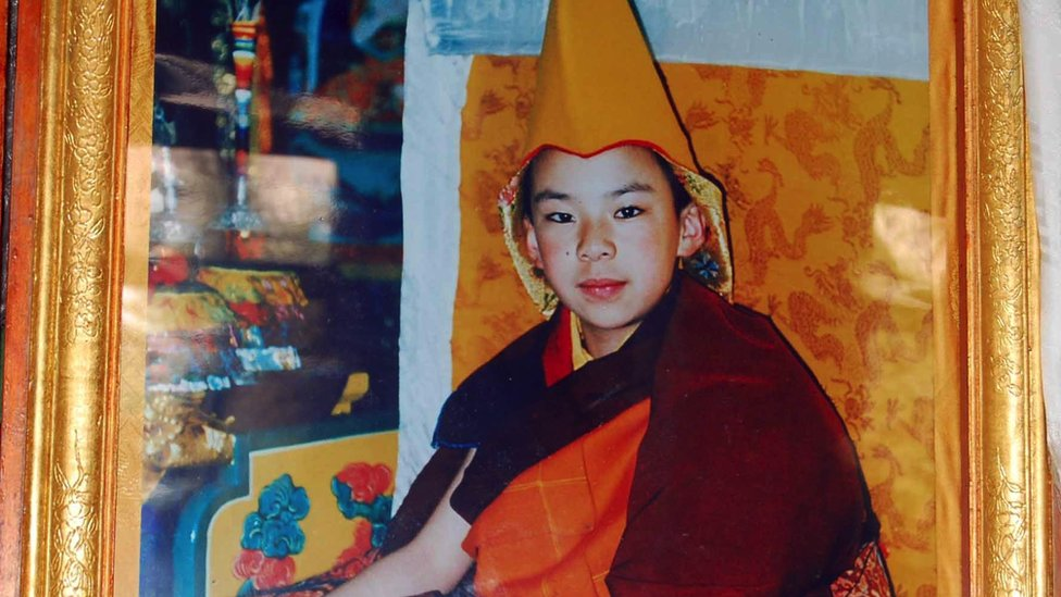 A picture of the new Panchen Lama, chosen by China