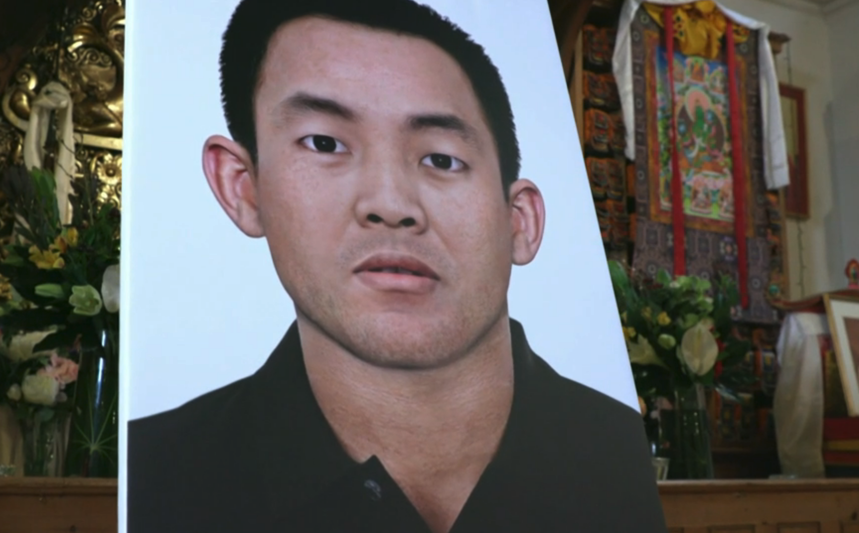 Artist's impression of how the Panchen Lama may appear today