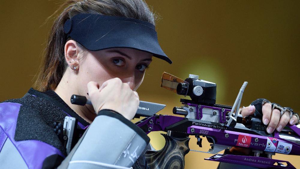 Srpska reprezentativka u streljaštvu Andrea Arsović u finalu Olimpijskih igara 1