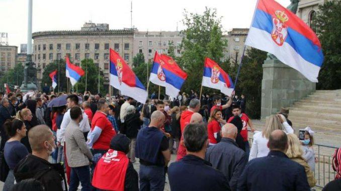 Protest podrške Bošku Obradoviću i Ivanu Kostiću koji štrajkuju glađu (VIDEO) 1