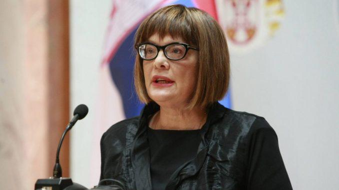 Maja Gojković osudila upad u Skupštinu Srbije 1