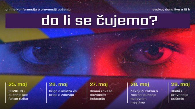 """Svetski dan bez duvana biće obeležen online konferencijom o prevenciji pušenja """"Da li se čujemo? 2"""