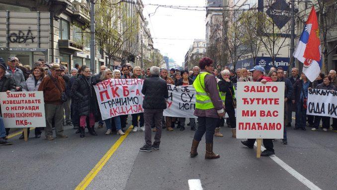 Penzioneri PKB ponovo na ulici, policija ponovo u pripravnosti 1