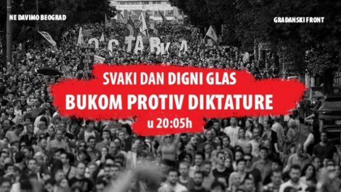 Građani Srbije nastavljaju podršku akciji Bukom protiv diktature (VIDEO) 5